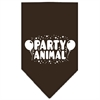 Mirage Pet Products Party Animal Screen Print Bandana Cocoa Large