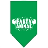 Mirage Pet Products Party Animal Screen Print Bandana Emerald Green Large