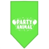 Mirage Pet Products Party Animal Screen Print Bandana Lime Green Small