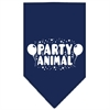Mirage Pet Products Party Animal Screen Print Bandana Navy Blue large