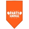 Mirage Pet Products Party Animal Screen Print Bandana Orange Large