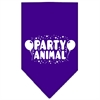 Mirage Pet Products Party Animal Screen Print Bandana Purple Large