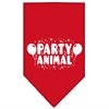 Mirage Pet Products Party Animal Screen Print Bandana Red Large