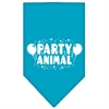 Mirage Pet Products Party Animal Screen Print Bandana Turquoise Large