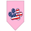 Mirage Pet Products Patriotic Paw Screen Print Bandana Light Pink Small