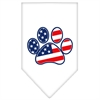 Mirage Pet Products Patriotic Paw Screen Print Bandana White Small