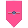 Mirage Pet Products Patriotic Star Paw Screen Print Bandana Bright Pink Small