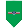 Mirage Pet Products Patriotic Star Paw Screen Print Bandana Emerald Green Large