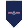 Mirage Pet Products Patriotic Star Paw Screen Print Bandana Navy Blue large