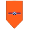 Mirage Pet Products Patriotic Star Paw Screen Print Bandana Orange Large