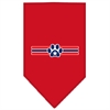 Mirage Pet Products Patriotic Star Paw Screen Print Bandana Red Small