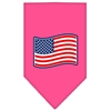 Mirage Pet Products Paws and Stripes Screen Print Bandana Bright Pink Small