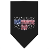 Mirage Pet Products Pawtriotic Pup Screen Print Bandana Black Large