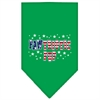 Mirage Pet Products Pawtriotic Pup Screen Print Bandana Emerald Green Small