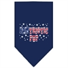 Mirage Pet Products Pawtriotic Pup Screen Print Bandana Navy Blue large