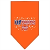Mirage Pet Products Pawtriotic Pup Screen Print Bandana Orange Small