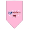 Mirage Pet Products Pawtriotic Pup Screen Print Bandana Bright Pink Large