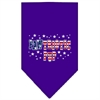 Mirage Pet Products Pawtriotic Pup Screen Print Bandana Purple Small