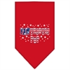 Mirage Pet Products Pawtriotic Pup Screen Print Bandana Red Small