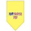 Mirage Pet Products Pawtriotic Pup Screen Print Bandana Yellow Large