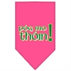 Mirage Pet Products Pog Mo Thoin Screen Print Bandana Bright Pink Small