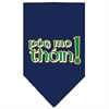 Mirage Pet Products Pog Mo Thoin Screen Print Bandana Navy Blue Small
