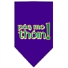 Mirage Pet Products Pog Mo Thoin Screen Print Bandana Purple Large