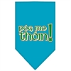 Mirage Pet Products Pog Mo Thoin Screen Print Bandana Turquoise Large