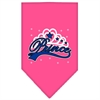 Mirage Pet Products I'm a Prince Screen Print Bandana Bright Pink Large
