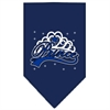 Mirage Pet Products I'm a Prince Screen Print Bandana Navy Blue large