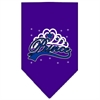 Mirage Pet Products I'm a Prince Screen Print Bandana Purple Large