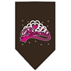 Mirage Pet Products I'm a Princess Screen Print Bandana Cocoa Small