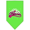 Mirage Pet Products I'm a Princess Screen Print Bandana Lime Green Large