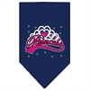 Mirage Pet Products I'm a Princess Screen Print Bandana Navy Blue Small