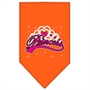 Mirage Pet Products I'm a Princess Screen Print Bandana Orange Small