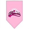 Mirage Pet Products I'm a Princess Screen Print Bandana Light Pink Large