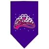 Mirage Pet Products I'm a Princess Screen Print Bandana Purple Large