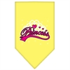 Mirage Pet Products I'm a Princess Screen Print Bandana Yellow Small