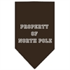 Mirage Pet Products Property of North Pole Screen Print Bandana Cocoa Small