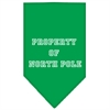 Mirage Pet Products Property of North Pole Screen Print Bandana Emerald Green Large