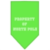 Mirage Pet Products Property of North Pole Screen Print Bandana Lime Green Small
