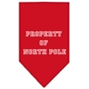 Mirage Pet Products Property of North Pole Screen Print Bandana Red Large