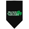 Mirage Pet Products Proud to be Irish Screen Print Bandana Black Small