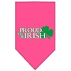 Mirage Pet Products Proud to be Irish Screen Print Bandana Bright Pink Small