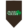 Mirage Pet Products Proud to be Irish Screen Print Bandana Cocoa Large