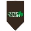Mirage Pet Products Proud to be Irish Screen Print Bandana Cocoa Small