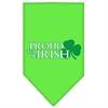 Mirage Pet Products Proud to be Irish Screen Print Bandana Lime Green Small