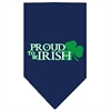 Mirage Pet Products Proud to be Irish Screen Print Bandana Navy Blue large