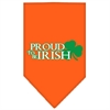 Mirage Pet Products Proud to be Irish Screen Print Bandana Orange Small