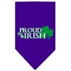 Mirage Pet Products Proud to be Irish Screen Print Bandana Purple Large